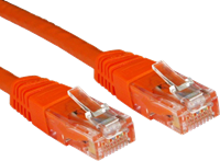 0.25M CAT 6 UTP PVC INJ MOULDED CABLE ORANGE