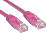 0.25M CAT 6 UTP PVC INJ MOULDED CABLE PINK