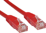 20MTR CAT 6 UTP PVC INJ MOULDED CABLE - RED