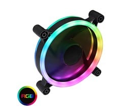 GameMax Raider Dual-Ring 16 LED 120mm Rainbow RGB Fan 5pin