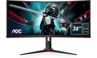 AOC CU34G2 34 inch LED 1ms Gaming Curved Monitor - 3440 x 1440, 1ms