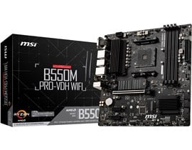 MSI B550M PRO-VDH WIFI AMD Socket AM4 Motherboard