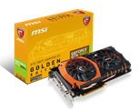 MSI NVDIA GeForce GTX 980 Ti GAMING GOLDEN EDITION Graphics Card