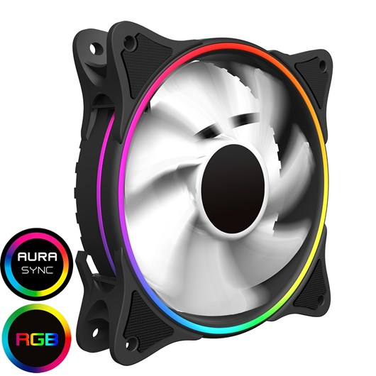 Game Max Mirage White Fins Rainbow RGB 5V Addressable 3pin Header & 3pin M/B