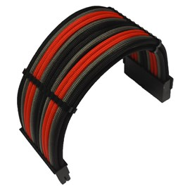 CCL Choice Custom PSU Extension Cables - Black/ Red/ Grey