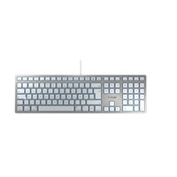Cherry KC 6000 Slim USB Keyboard (Silver/White) for Mac