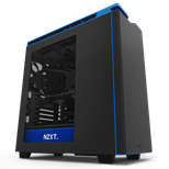 NZXT H440 New Edition Matte Black/Blue with Side Window