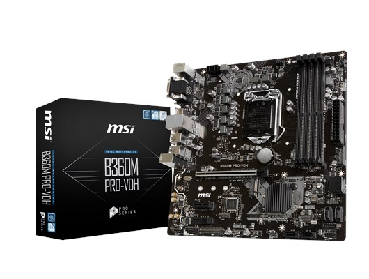 MSI B360M PRO-VDH Intel Socket 1151 B360 Chipset Coffee Lake Micro-ATX Motherboard *Open Box*