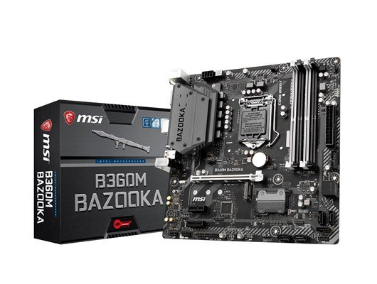 MSI B360M BAZOOKA Intel Socket 1151 B360 Chipset Coffee Lake Micro-ATX Motherboard *Open Box*