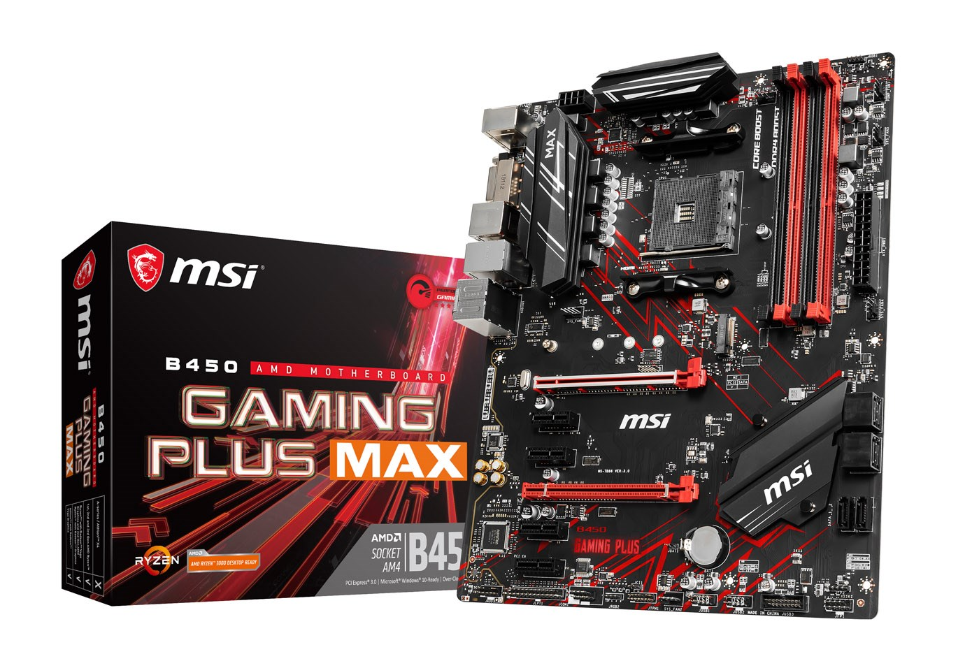 MSI B450 GAMING PLUS MAX ATX Motherboard for AMD AM4 CPUs
