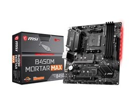 MSI B450M MORTAR MAX AMD Socket AM4 Motherboard