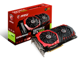 MSI GeForce GTX 1060 GAMING X 6GB OC Graphics Card