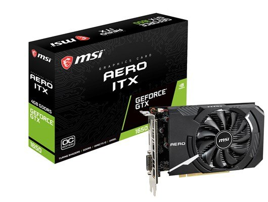 MSI GeForce GTX 1650 AERO ITX 4GB Graphics Card