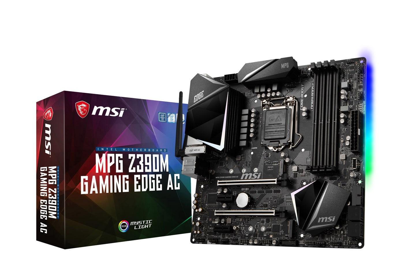 MSI MPG Z390M GAMING EDGE AC mATX Motherboard for Intel LGA1151