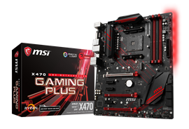 MSI X470 GAMING PLUS AMD Socket AM4 Motherboard