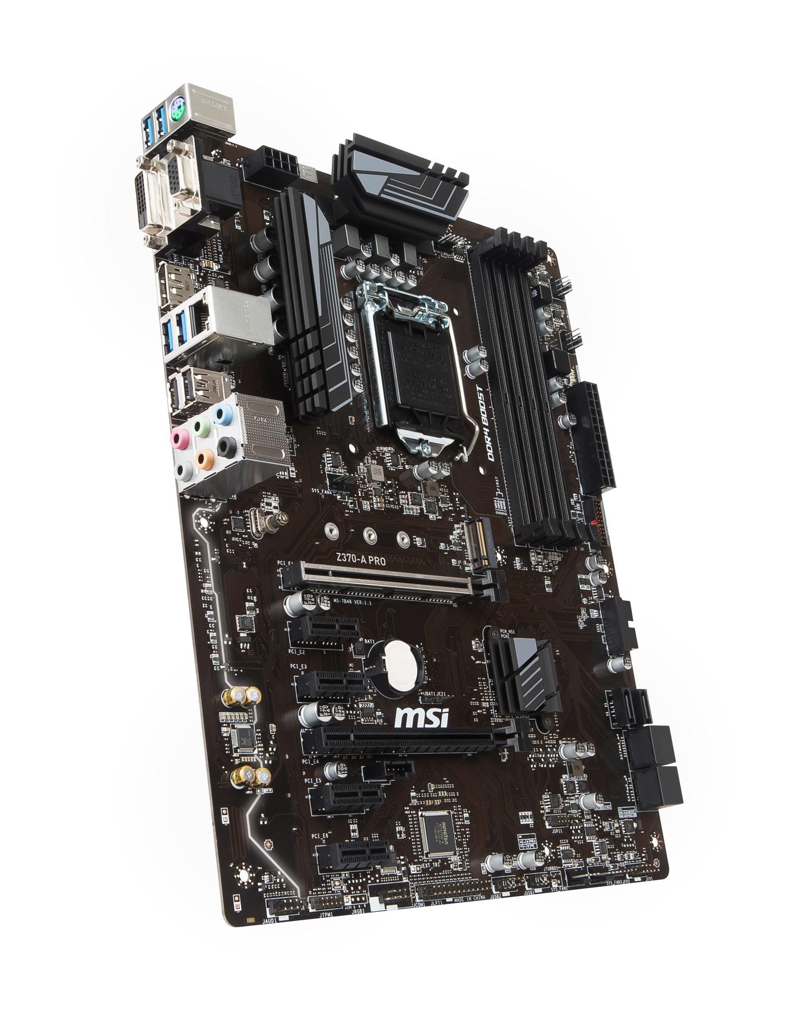 MSI Z370 A PRO Intel Socket 1151 Motherboard Z370 A PRO