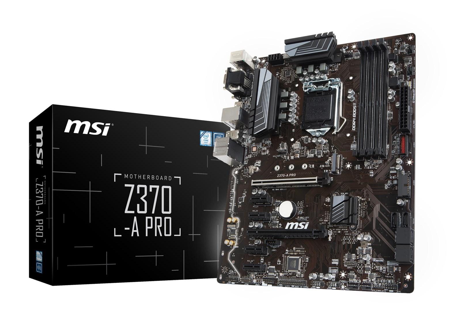 MSI Z370 A PRO Intel Socket 1151 Motherboard