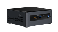 Intel Next Unit of Computing (NUC) Barebone Kit with integrated Intel Pentium Silver J5005 Processor