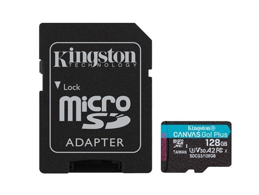 Kingston Canvas Go! Plus 128GB UHS-1 (U3)