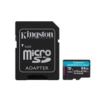 Kingston Canvas Go Plus 64GB microSDXC Card with SD Adapter