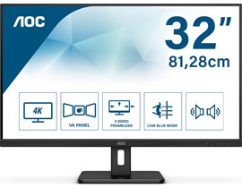 "AOC U32E2N 31.5"" 4K Ultra HD VA Monitor"