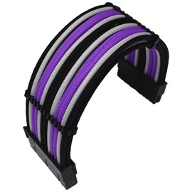 CCL Choice Custom PSU Extension Cables - Purple/White/Black