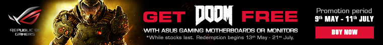 Get Doom FREE with selected ASUS Gaming motherboards and monitors