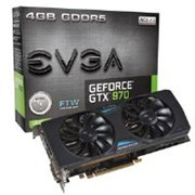 EVGA GeForce GTX 970 FTW with ACX Cooling 2.0 4GB Graphics Card PCI-E DVI HDMI DisplayPort